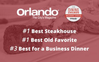 Christner's Wins Three 2019 Dining Awards: Readers' Choice from Orlando Magazine