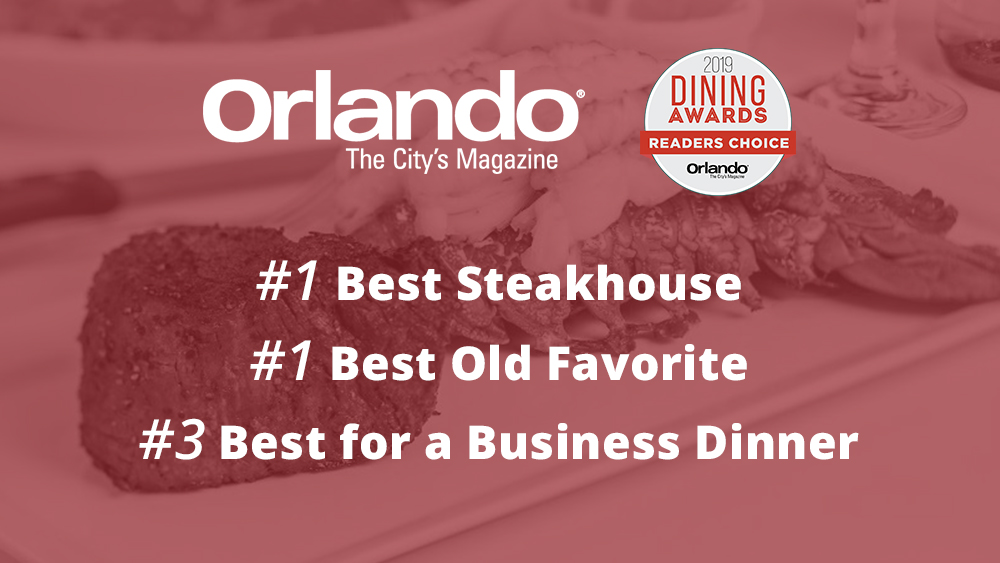Christner's Wins Three 2019 Dining Awards: Readers' Choice from Orlando Magazine
