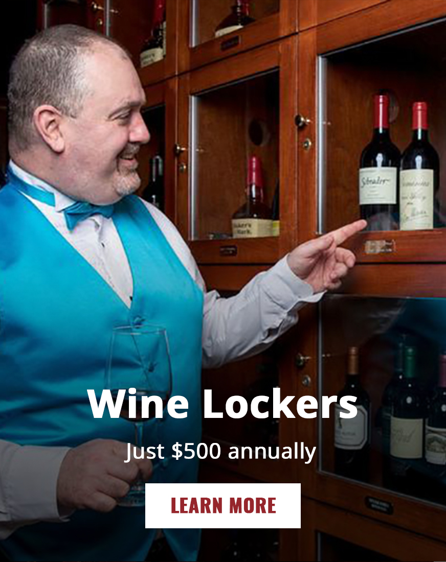 Wine lockers available