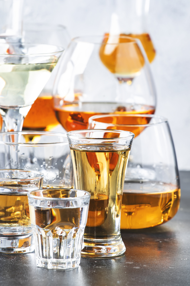 Different whiskey glasses