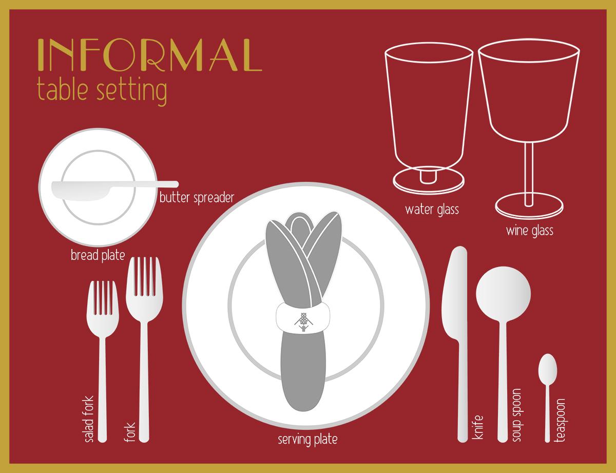 Informal dinner setting