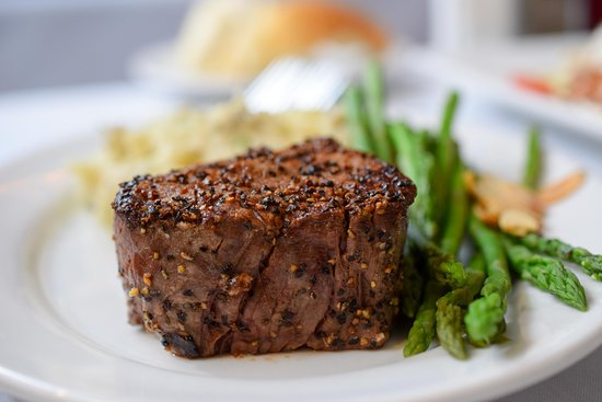 Carole's filet served with chateau potatoes