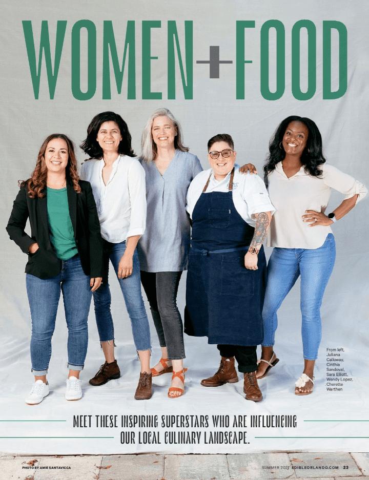 Woman and food magazine